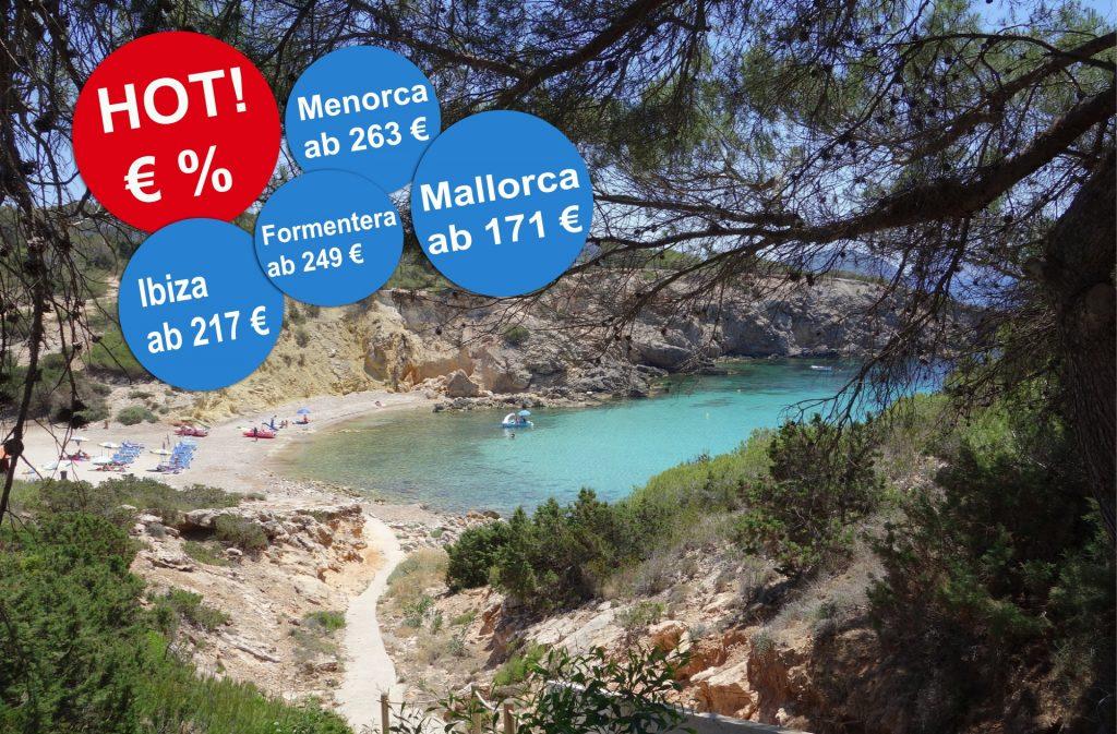 Angebote für günstige Reisen auf die Balearen